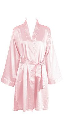 daafcbcd18c Plus Size Free Shipping Light Pink Personalized SATIN Robes Embroidered  Monogrammed Bridesmaids Gift Pink Day
