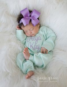 Baby Girl Coming Home Outfit Baby Girl Clothes Baby Girl Gift Baby Girl Romper Baby Girl Sleeper Monogrammed Baby Girl Baby Girl Headband - Baby Boy Names Baby Girl Names Baby Girl Names, Baby Girl Gifts, Baby Girl Stuff Newborn, Baby Baby, Newborn Girl Outfits, Baby Girl Romper, Baby Girl Headbands, The Babys, Girls Coming Home Outfit
