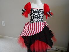 Custom Boutique Red Pirate skull tutu costume 6 by primafashions, $46.99 - for the girls for Buddy's Party