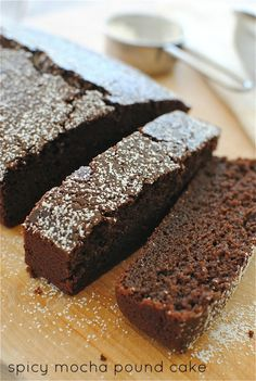 I'm soooo making this Spicy Mocha Pound Cake / Bev Cooks Just Desserts, Delicious Desserts, Dessert Recipes, Muffins, Brownies, Pound Cake Recipes, Pound Cakes, Just Cakes, Dessert Bread