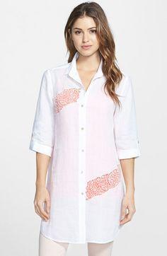 Women's NIC+ZOE 'Lace Bloom' Inset Tunic Top