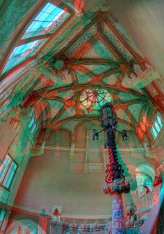 3D image about Hospital de la Santa Creu i Sant Pau in Barcelona, the Europe's largest Art Nouveau Site