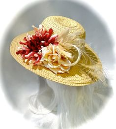 6cdfdbfaf93 Rose Sun Hat Kentucky Derby Women s Hats Mother of the Bride DH-101