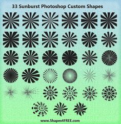 20 Packs de pinceles con efectos de rayos de sol para Photoshop