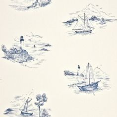 Marina Fabric & Wallpaper Collection by Casadeco is a contemporary collection can make any room of the home look sophisticated with a fresh and welcoming feel. Toile Wallpaper, Cloud Wallpaper, Wallpaper Samples, Pattern Wallpaper, Beagle, Home Look, Textile Patterns, Surface Design, Fabric Design