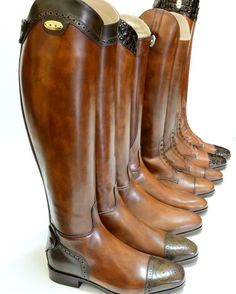 The most important role of equestrian clothing is for security Although horses can be trained they can be unforeseeable when provoked. Riders are susceptible while riding and handling horses, espec… Mens Riding Boots, Horse Riding Boots, Brown Riding Boots, Cowboy Boots, Equestrian Boots, Equestrian Outfits, Equestrian Style, Equestrian Fashion, Tall Boots