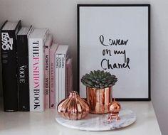 Decoração: Objetos rose gold - Beleza Make