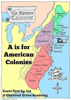 A is for American Colonies | ABC's of American History Homeschool Resource series
