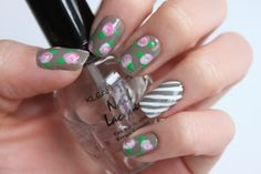 tutorial - nail art roses