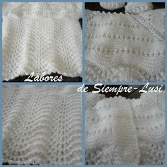 Labores de siempre: Jersey bebé y patucos en blanco Crochet For Kids, Knit Crochet, Meraki, Baby Sweaters, Baby Knitting Patterns, Diy And Crafts, Tote Bag, Blanket, Blog