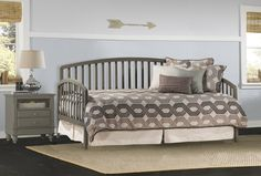 Hillsdale Carolina Wooden Daybed with Trundle in Stone Finish