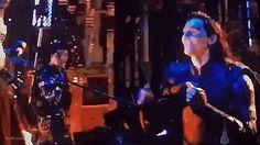 Tom Hiddleston on set for Avengers 3