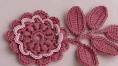 уроки татьяны литке - YouTube Crochet Puff Flower, Crochet Leaves, Knitted Flowers, Love Crochet, Beautiful Crochet, Irish Crochet Tutorial, Irish Crochet Patterns, Crochet Designs, Crochet Patterns For Beginners