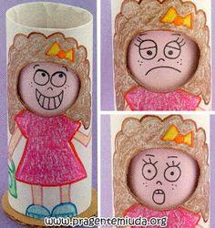 Pra Gente Miúda: Bonequinha para trabalhar sentimentos e emoções
