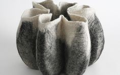 beautiful felted vessel by Gil Leitersdorf