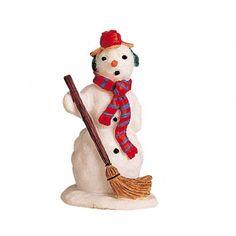 Ai pupazzi di neve Lemax piace tenere pulito il loro spazio.