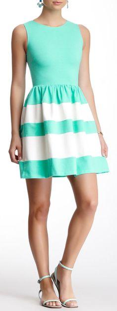 Mint Stripe Dress // L.O.V.E.