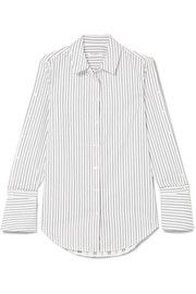 Rossi pinstriped cotton-poplin shirt Poplin, Work Wear, Shirt Dress, Cotton, Mens Tops, Shirts, Clothes, Dresses, Fashion