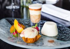 A Study of Peach Dessert Trifle Pannacotta Ice cream Signatures Restaurant Aberconwy Resort and Spa Trifle Desserts, Panna Cotta, Spa, Ice Cream, Peach, Study, Restaurant, Ethnic Recipes, Food