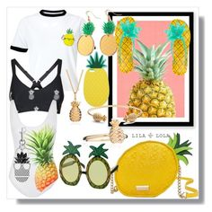 """""""Pineapple 🍍 girl"""" by briannacutie498 ❤ liked on Polyvore featuring Miss Selfridge, WALL, Kate Spade, Rachel Jackson, The Upside, ONIA and STELLA McCARTNEY"""