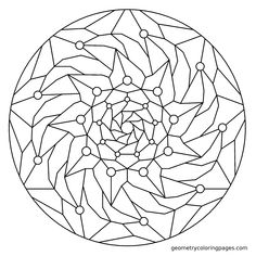 Geometry Coloring Page, Fall