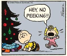 No Peeking! Charlie Brown and Snoopy ♥ Days To Christmas, Peanuts Christmas, Christmas Cartoons, Charlie Brown Christmas, Christmas Countdown, Christmas Quotes, Christmas Crafts, Merry Christmas, Celebrating Christmas