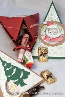 Kerstin's kleine Bastelwelt: Weihnachtsmarkt 2013, Dreiecksboxen