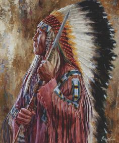 Undaunted Leader - Lakota Chief Giclee