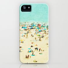 Coney Island Beach iPhone Case by Minagraphy | Society6