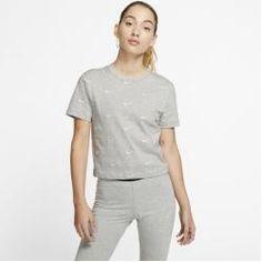 Nike Damen-T-Shirt mit Swoosh-Logo - Grau Nike