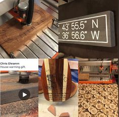 Shout out to STEPCRAFT Customer Chris Ghramm for sharing his amazing creations with us! His work is done on a Happy creating! Ct Usa, Cnc Router, Dremel, Diy Woodworking, 3d Printing, Crafting, Motivation, Cool Stuff, Create