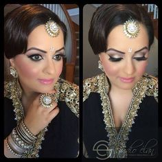 """""""A girl should be two things classy, and beautiful."""" This client of ours was exactly that. Tap if you love her look. #makeup #bridalmakeup #indianwedding #indianbridalmakeup #indianmakeup #indianjewelry #sikhwedding #bridal #wedding #weddingmakeup #flawless #fotd #flawlessamakeup #contour #updo #weddingupdo"""