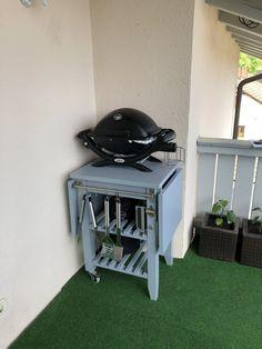 Bbq Stand, Ikea Tarva Dresser, Grill Table, Grill Cart, Ikea Bekvam, Porch Furniture, Weber Grill, Wall Crosses, The Design Files