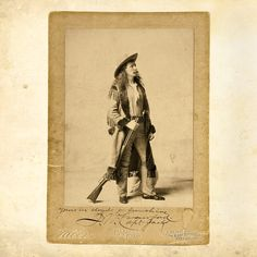 "The 30-year-old John Wallace ""Captain Jack"" Crawford teamed up with 31-year-old Cody in 1877 to perform ""The Red Right Hand,"" which dramatized Cody's loosely based claim of getting the first scalp for George Custer, who had been killed by Indians in battle the summer before.  – Courtesy Heritage Auctions, May 22, 2010 –"