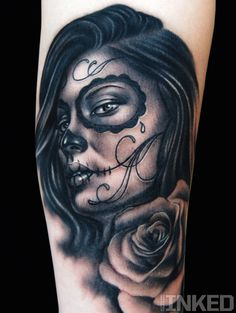 Khan // sugar skull // black & grey tattoo
