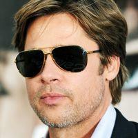 5ff5bf9938d Brad-Pitt-RayBan-Aviators-Sunglasses-Celebrity-Picture Brad Pitt Sunglasses