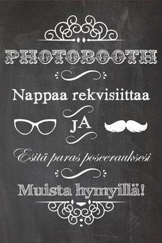 Pitsiä & Minttua - Hääblogi: Printattavat: Photobooth opasteet