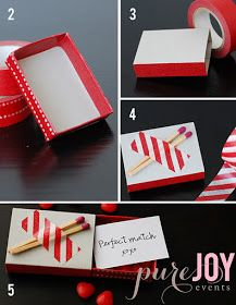 TUTORIAL: DIY Matchbox Love Notes for Valentine's