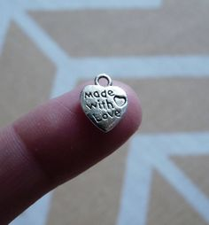 Excited to share the latest addition to my #etsy shop: Heart Charms, Love Charms, 2 Sided Antique Silver Tone Love Charms, Charms for Bracelets, Bracelet Charms, Necklace Pendants Charms http://etsy.me/2DaJWU1