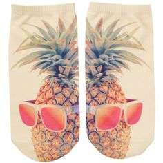 Free Press No Show Sublimation Low-Cut Socks (£3.82) ❤ liked on Polyvore featuring intimates, hosiery, socks, cool pineapple, patterned socks, print socks, pineapple socks, low cut socks and patterned hosiery