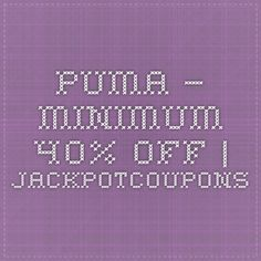 Puma – Minimum 40% off | Jackpotcoupons
