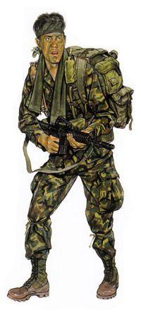 U.S. Ranger, Vietnam. 1971.
