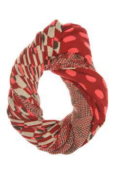 9 Chunky Knit Scarves for Winter: Zaket & Plover Jacquard Snood from Birdsnest. #Stylish365