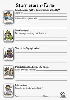 Reading comprehension strategies in practice: The star reader – Prescholl Ideas Teaching Schools, Teacher Education, School Teacher, Kids Education, Learn Swedish, Swedish Language, Reading Comprehension Strategies, Writing Words, Deep Learning