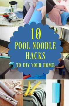 10 Brilliant Ways to Use Pool Noodles to DIY Your home you have to see, including a video with 8 more great pool noodle ideas. Organize Life, Pool Noodle Crafts, Crafts With Pool Noodles, Swim Noodles, Caravan Hacks, Diy Pool, Kids Videos, Hacks Videos, Simple Life Hacks