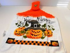 Halloween Crocheted Decorative Dishtowel Topper  by kamsstorecom, $5.99