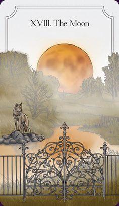 XVIII- The Moon tarot card