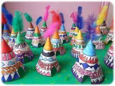 Fabrication de tipis en maternelle