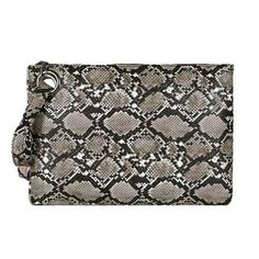Main Material: PU Size: X X / 32 cm X 22 cm X 1 cm Lining Material: Polyester Interior: No Pocket Cheap Purses, Purses And Bags, Motif Serpent, Women's Wristlets, Basket Noir, Oversized Clutch, Daily Makeup, Vegan Leather, Pu Leather