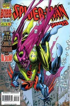 Spider-Man 2099 July 1996 Marvel Comic Book Drowning By Inches Marvel Comic Books, Comic Books Art, Marvel Comics, Marvel 2099, Marvel Animation, Spider Verse, Image Comics, Disney Marvel, Comics Online
